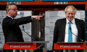Michael Gove, left, with Boris Johnson on Monday