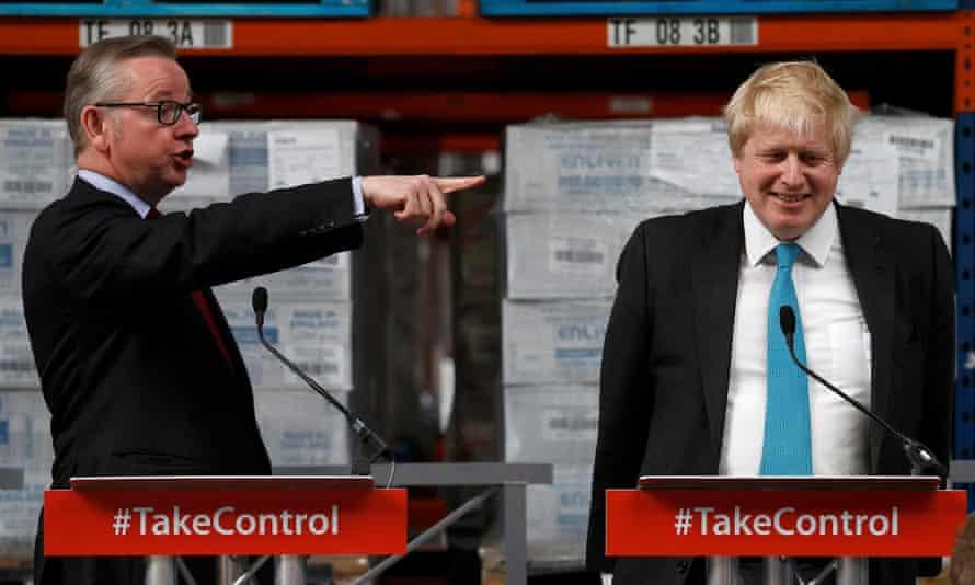 Michael Gove, left, with Boris Johnson on Monday