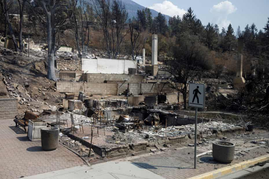 A burned out building in Lytton