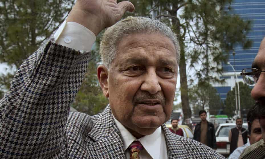 Abdul Qadeer Khan in Islamabad in 2013