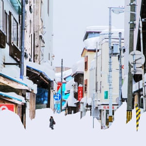 An image of a snowbound street from Chinese photographer Ying Yin's series Wind of Okhotsk