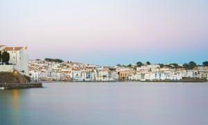 The fishing village of Cadaqués at sunset