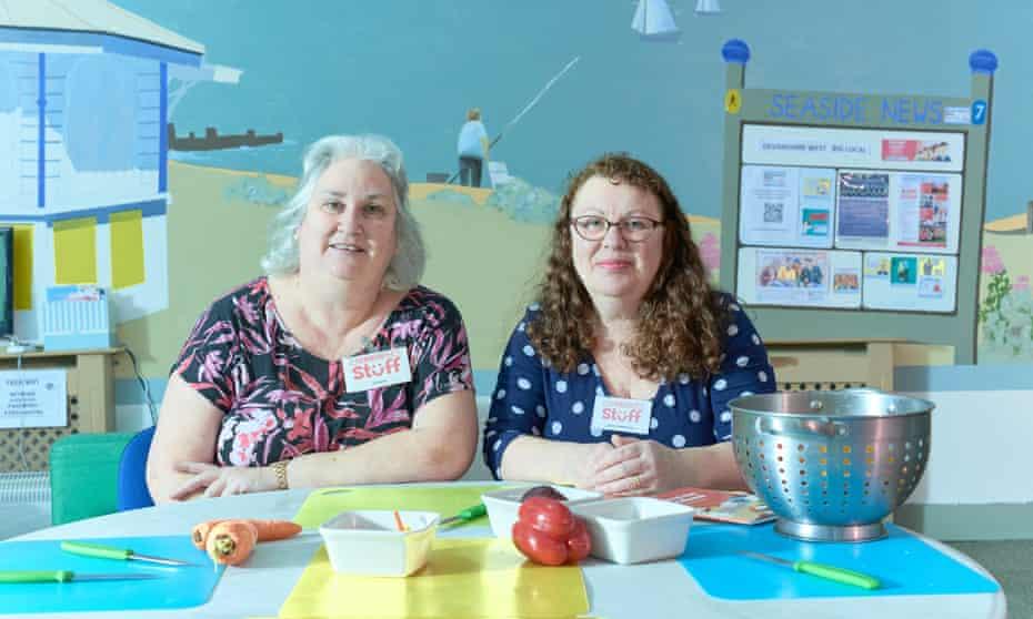 Sue Morris and Clare Hackney, directors of Community Stuff, Eastbourne.