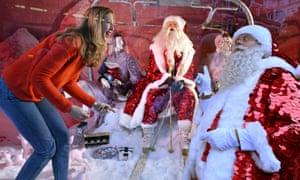Santa double act!