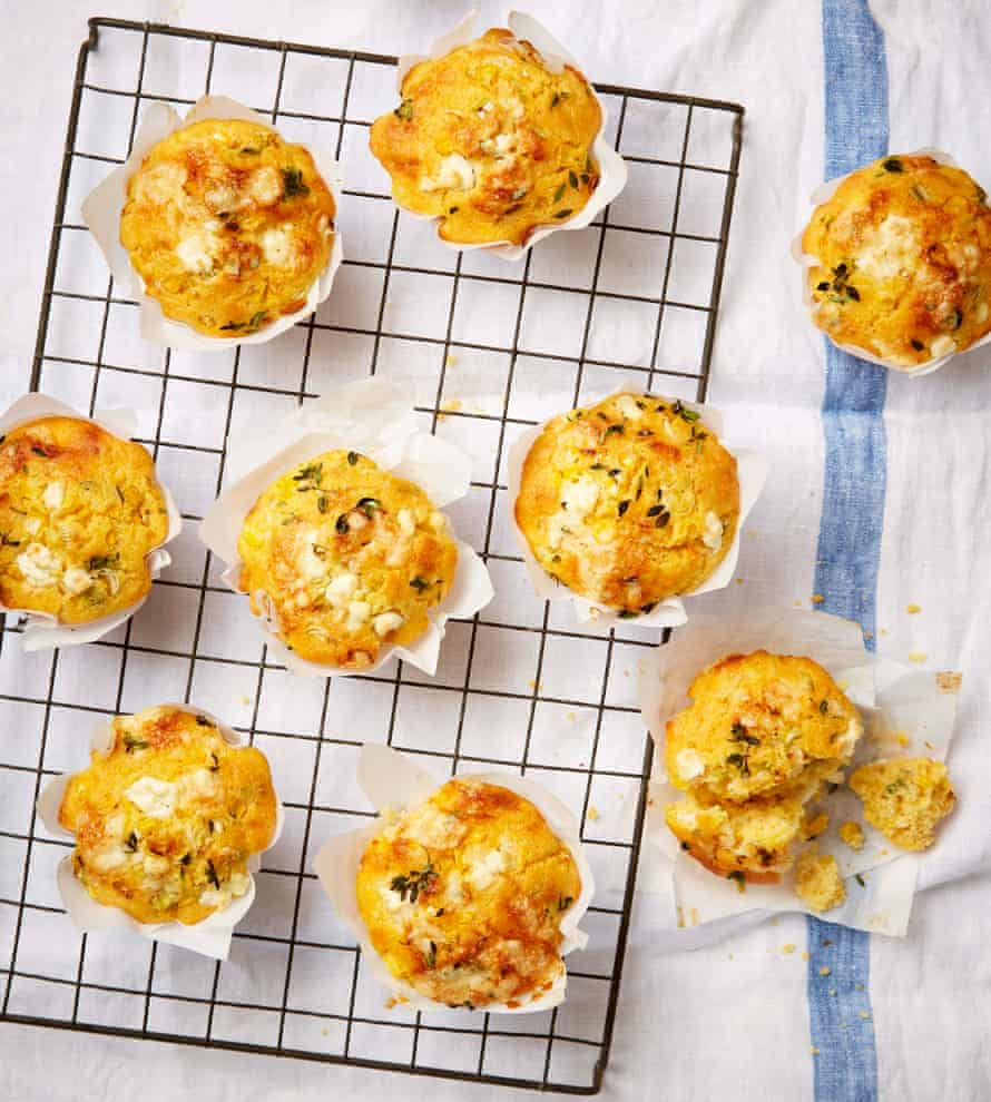Corn and double cheese muffins