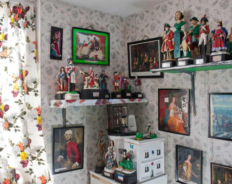 Inside Gerry Dalton's house.
