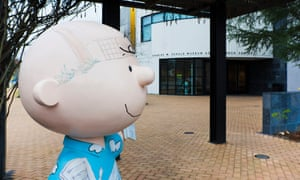 Charlie Brown figure outside the Charles M Schulz Museum in Santa Rosa, California