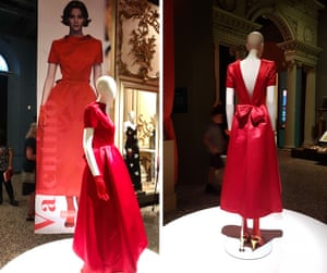 Christy Turlington, often captured by Moore, wearing the signature red dress from Valentino in 1991.