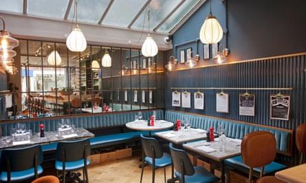 La dolce vita: the cosy interior of the Blandford Comptoir, London W1.