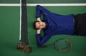 Andy Murray poses for a portrait at the Queens Club