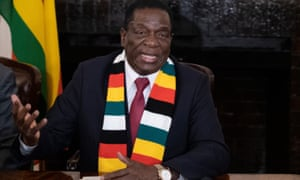 President-elect Emmerson Mnangagwa defends the election in which he was declared winner, on 3 August.