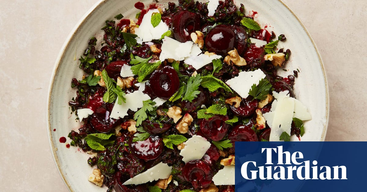 Mint watermelon, cherry and black rice, wakame with shallot crisp: Yotam Ottolenghi's cooling summer salads