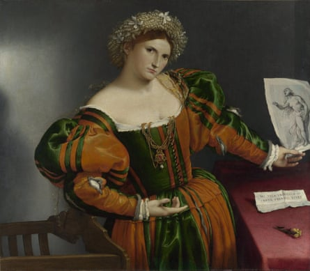 Portrait of a woman inspired by Lucretia, about 1530-33, by Lorenzo Lotto