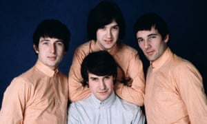 The KinksBritish pop group The Kinks. Left to right clockwise Mick Avory, Dave Davies, Pete Quaife and singer Ray Davies. (Photo by Central Press/Getty Images) square;color;clothing;male;Music;Pop;Songwriter;Guitarist;Drumme Clothing;British;English;PC 2352);