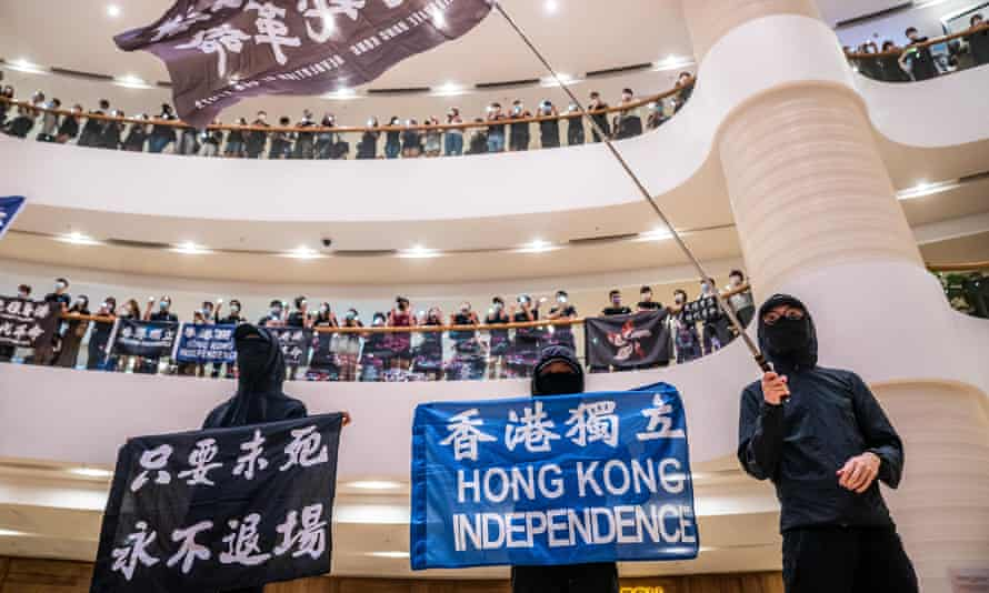Pro-democracy protesters gather in Hong Kong