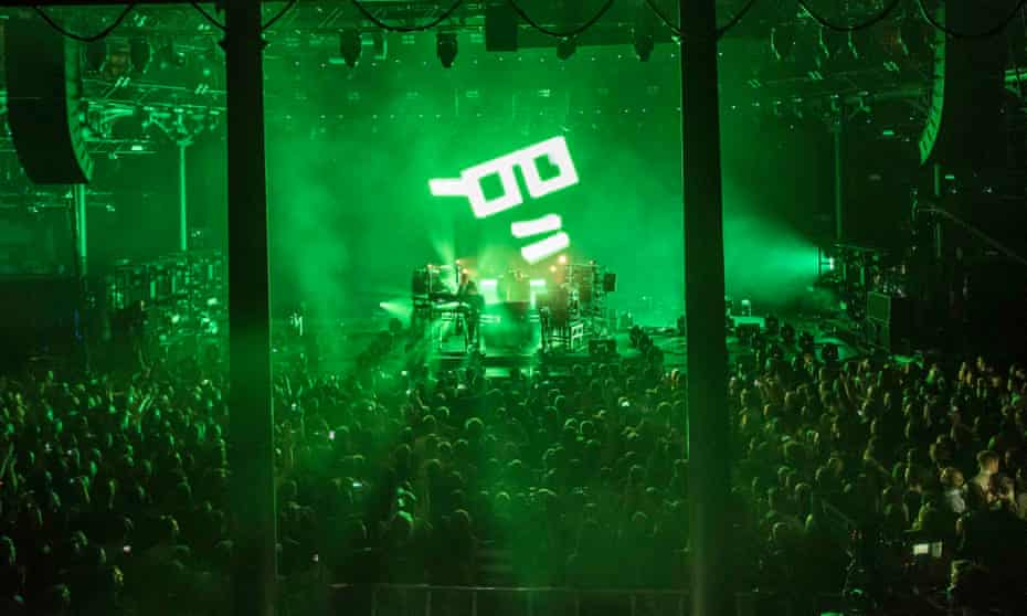 Light show: the Chemical Brothers performing in 2015.