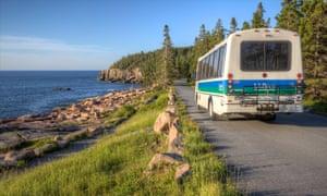 Acadia National Park's Island Explorer bus service.