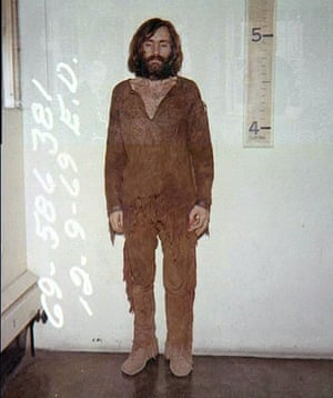 Manson is seen here in a 1969 arrest photo