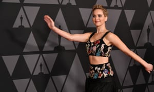 Jennifer Lawrence at an awards ceremony in Los Angeles