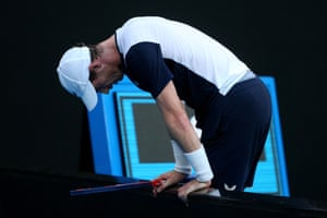 Murray appears to be struggling at times