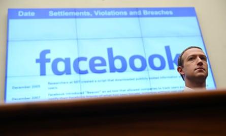 Mark Zuckerberg testifies in Washington in October 2019.
