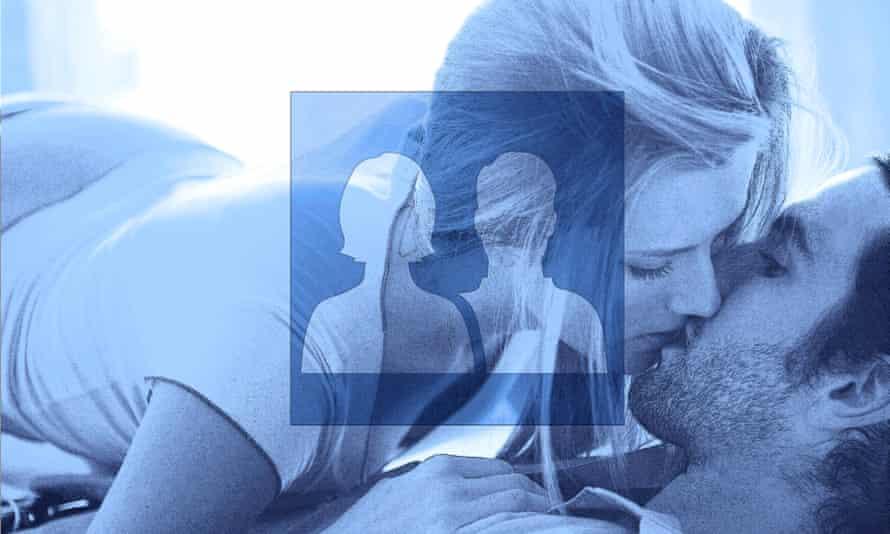 A couple kissing