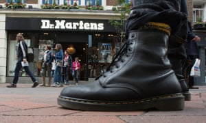 Dr Martens in from of Dr Martens outlet