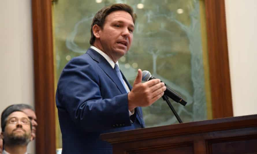 'If you're coming after the rights of parents in Florida, I'm standing in your way,' DeSantis said.
