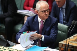 The prime minister reacts during question time