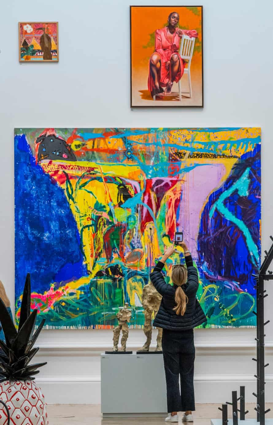 Isio Shift by Joshua Uvieghara and other works at the Royal Academy's Summer 2021 Summer Exhibition.