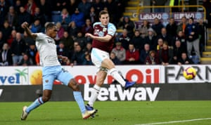 Chris Wood fires home the opener.
