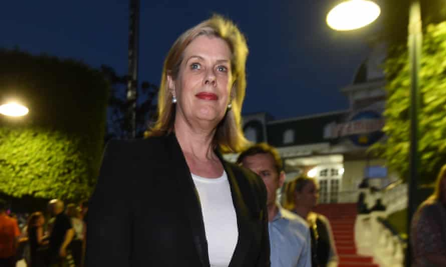 Ardent Leisure CEO Deborah Thomas attends a candlelight vigil outside Dreamworld on Friday, Oct 28, 2016