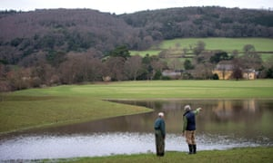 A natural flood defence project on the Holnicote Estate in Somerset involves creating flood meadows
