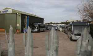 The Nippybus depot in Great Western Road, Martock.