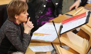 Nicola Sturgeon at Scottish question time