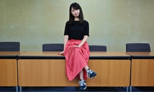 Yumi Ishikawa, the leader and founder of the KuToo movement to protest against wearing high heels.