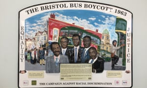 A plaque at Bristol Bus Station commemorates the little-known Bristol boycott.