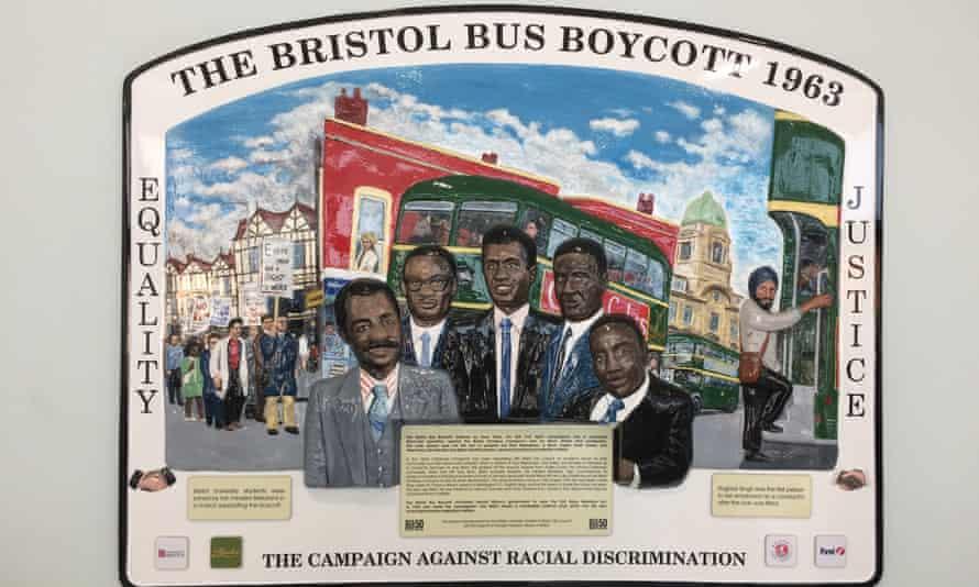 A plaque at Bristol Bus Station commemorates the little-known Bristol boycott.