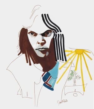 Neil Young. An arresting portrait of her fellow Canadian and frequent collaborator.