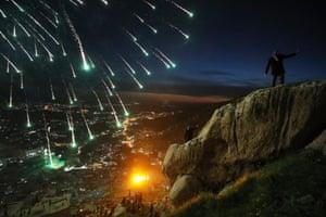 Kurdish families celebrate Nowruz, Kurdish new year, in the mountainous area around Akre.
