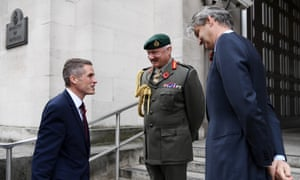 The defence secretary, Gavin Williamson (left), and Stephen Lovegrove (right), permanent secretary at the Ministry of Defence, on Williamson's appointment in November 2017.