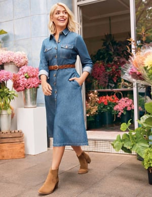 Holly Willoughby sports her denim range.