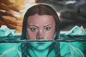 Mural of Greta Thunberg