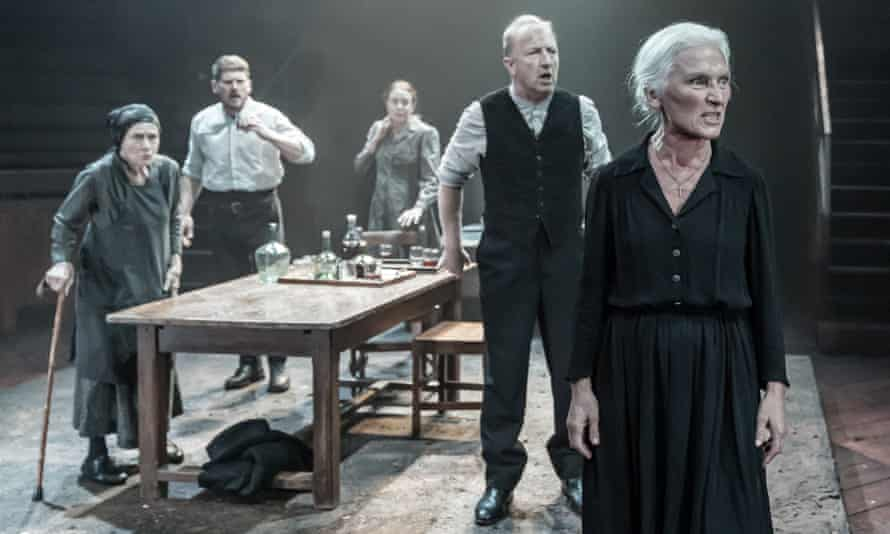 Sensationally austere … Olwen Fouéré, right, as Mother in Blood Wedding.