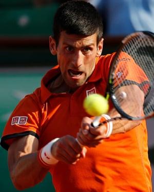 Djokovic in full flow.