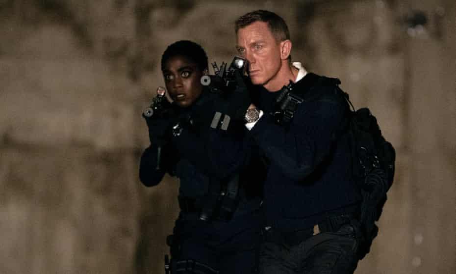 Lashana Lynch and Daniel Craig in No Time to Die.
