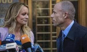 That was then. Stormy Daniels and Michael Avenatti in 2018.