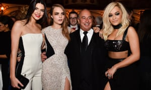Philip Green, mixing with models and pop stars, suffers few bad consequences from ruining people's jobs and pensions.