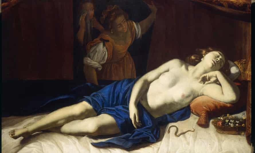 Artemisia Gentileschi's Cleopatra.