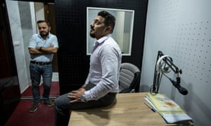Radio One CEO Ehab Attrachi (right) and his assistant Ahmed al-Haddad.